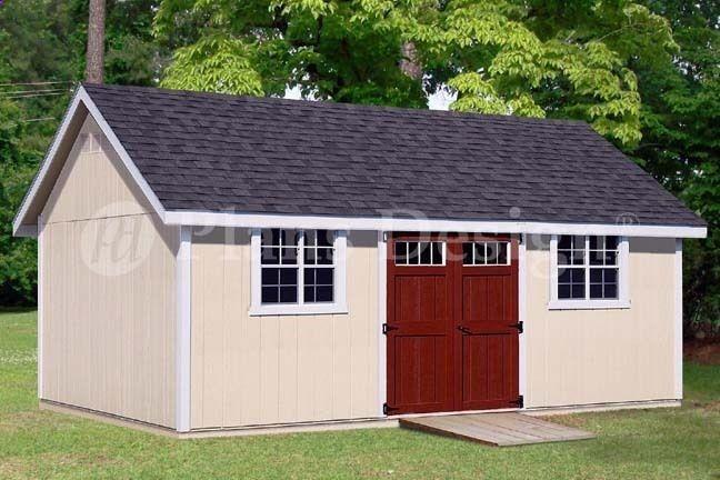 Shed Plans - Backyard Storage Shed Plans 14\u0027 x 24\u0027 Gable Roof