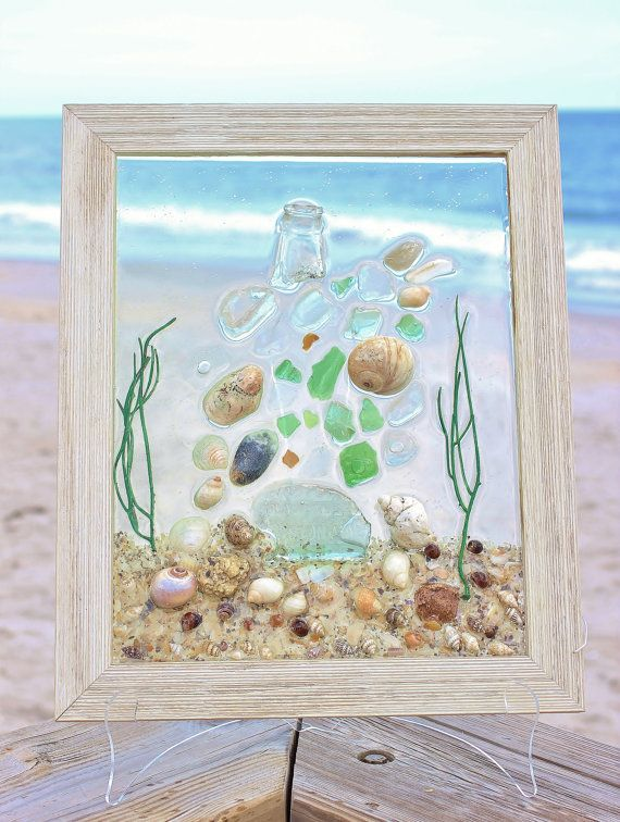 Superior BEST SEAWEED Art,Beach Glass Decor,2017 Interior Design Trends,Best  Selling,Coastal Decor,Abstract Sea Glass Art,Cheap Flat Rate Shipping