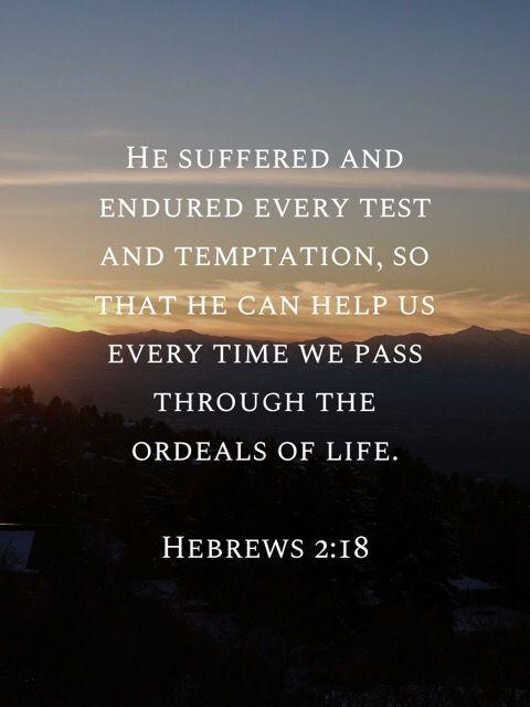 Citaten Jezus : Hebrews 2:18 citaten jezus christus heilige geest en christus