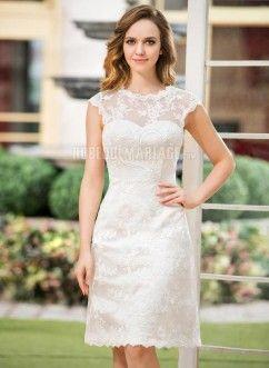Robe mariage civil courte pas cher