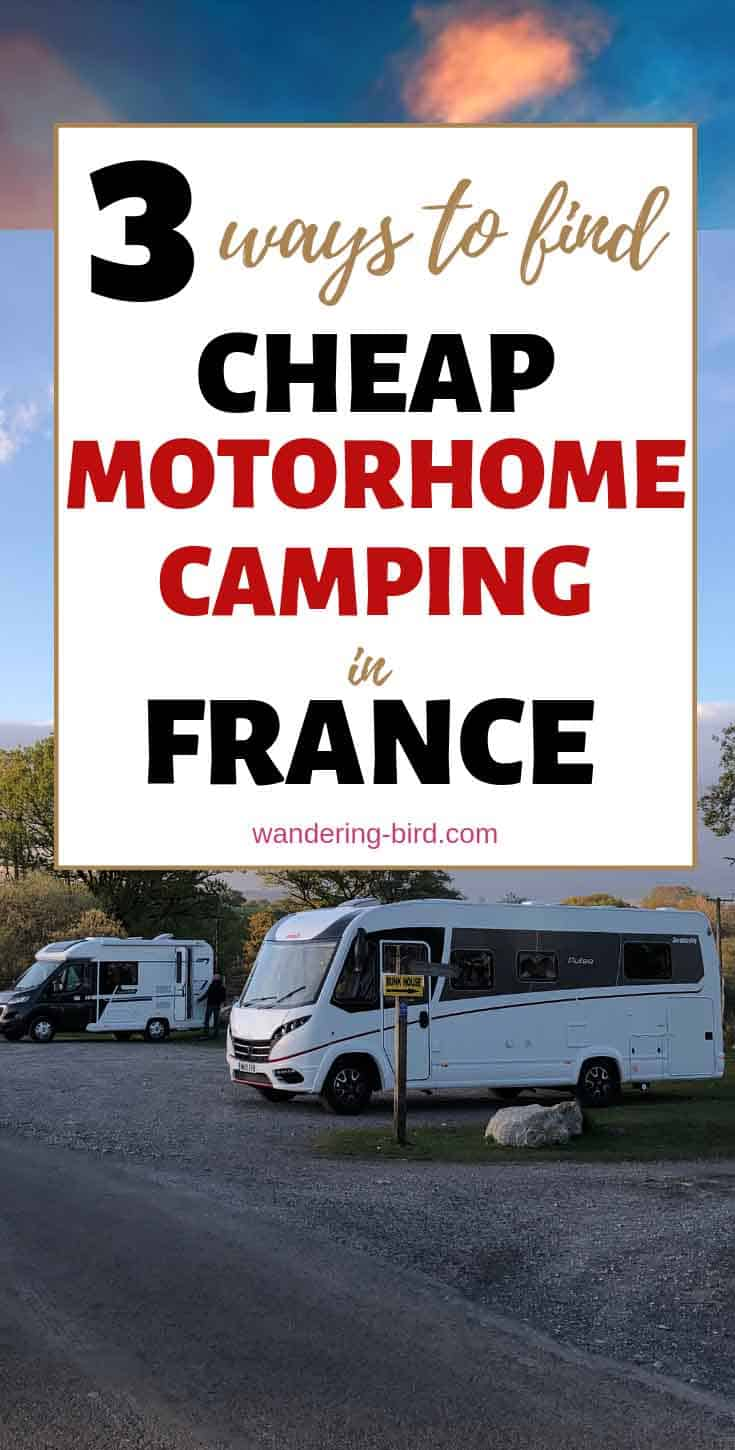 Travelling France by camper van or motorhome? Here are the best ways to find che...  #camper #france #motorhome #travelling