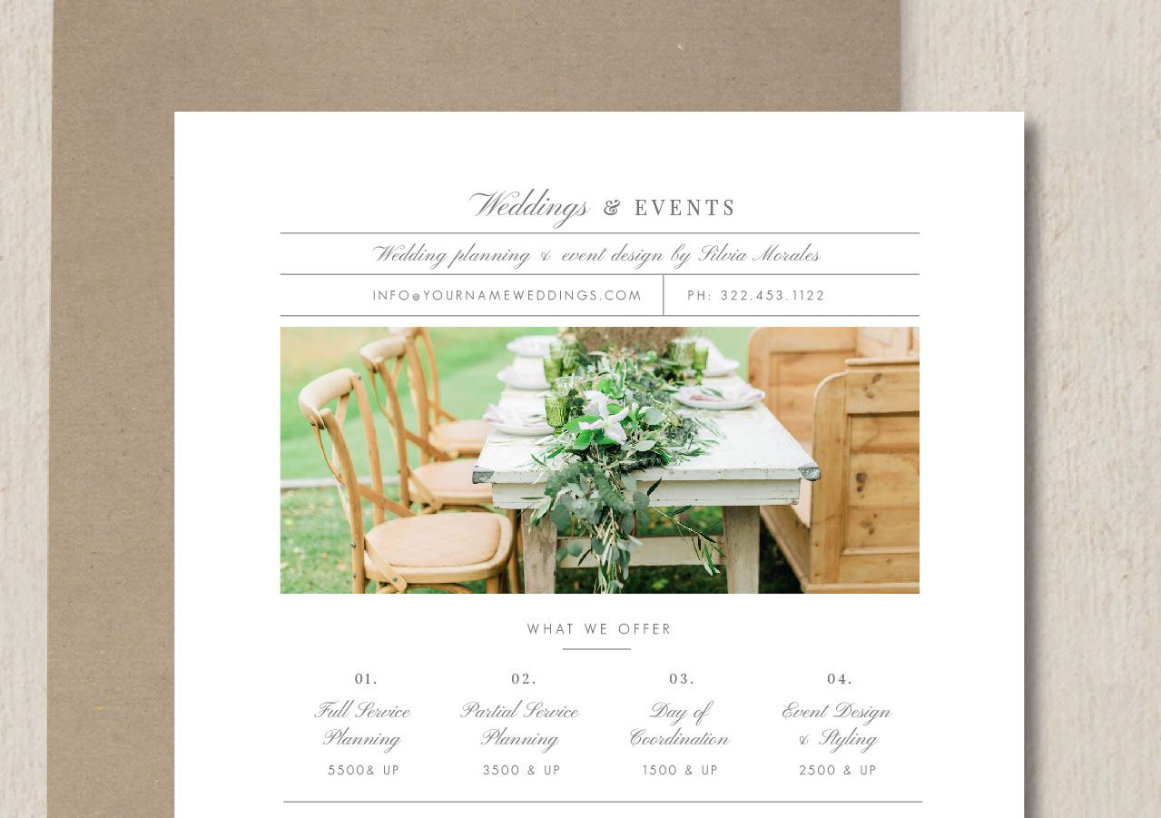 Wedding Planner Pricing Guide Template Eucalyptus Event Planning Pricing Event Planning Pricing Guides Templates