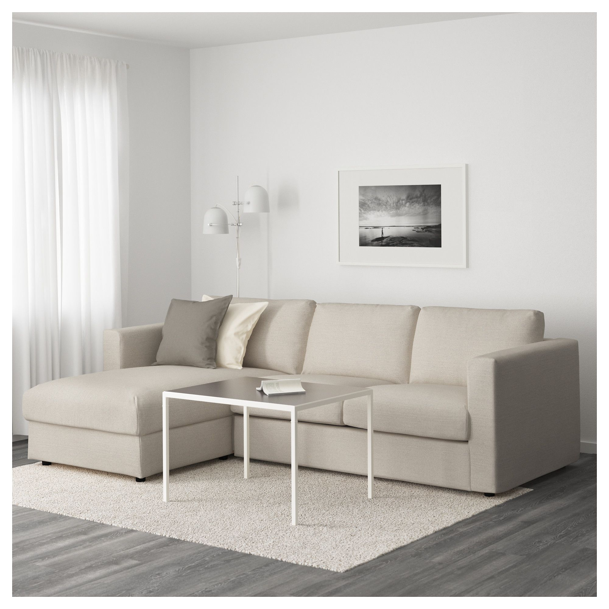 Divano Friheten Beige Vimle Sofa With Chaise Gunnared Beige Ideas For The House