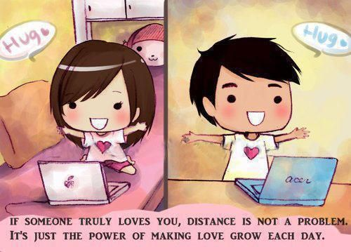 Long Distance Love <3 I do this every time we skype :')