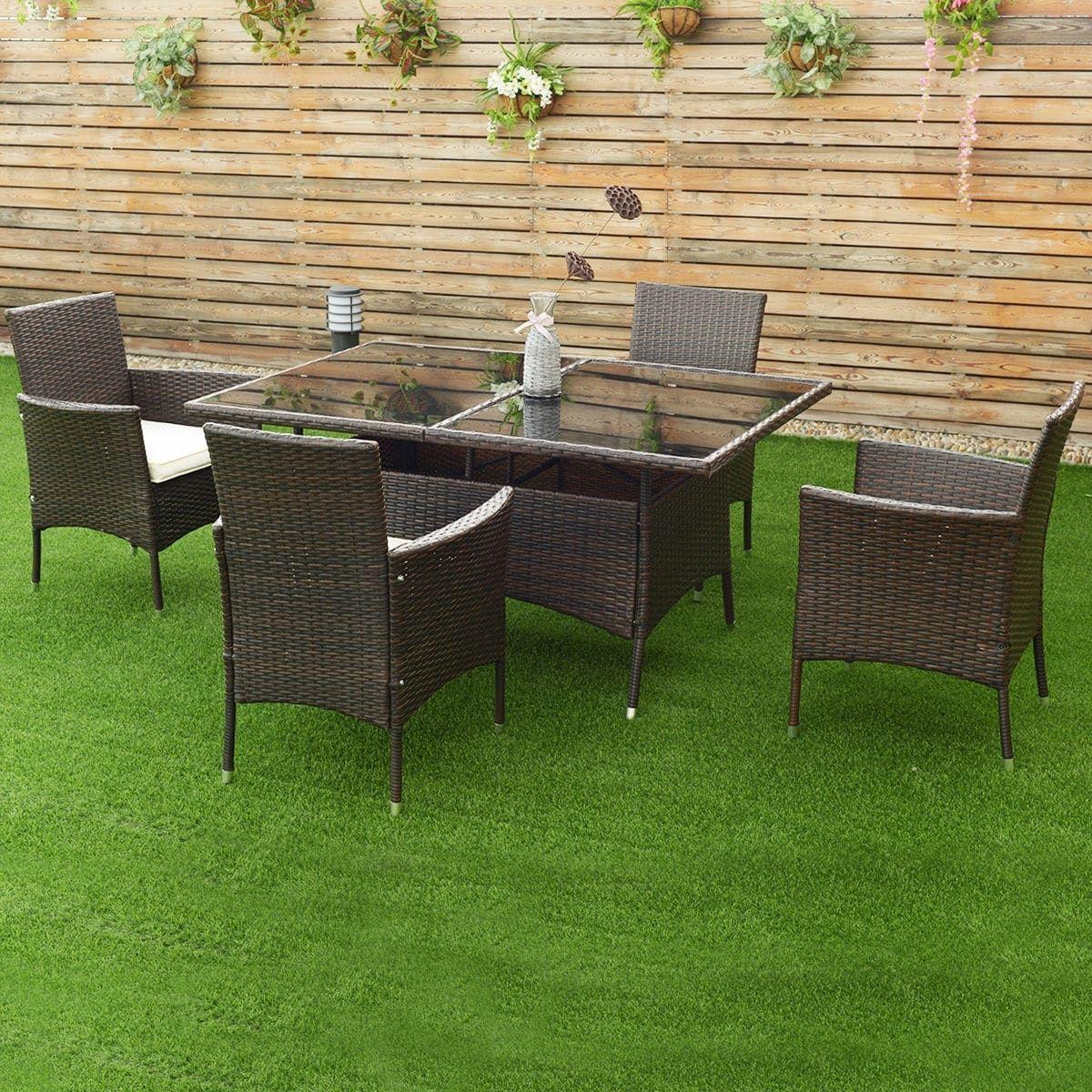 Costway pcs rattan garden sofa set outdoor patio furniture table