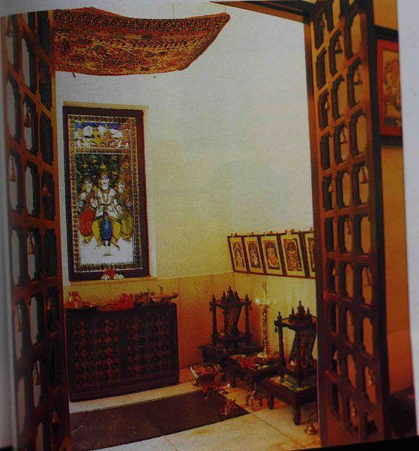 Puja room design home mandir lamps doors vastu idols for Modern home decor items india