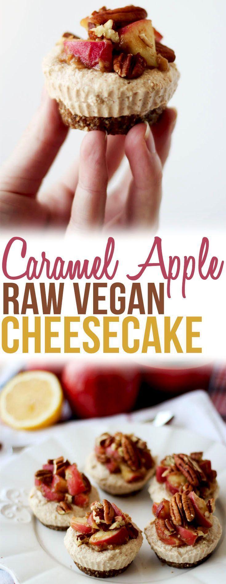 Caramel Apple Raw Vegan Cheesecake   Gluten Free & No Refined Sugar - Abbey's Kitchen