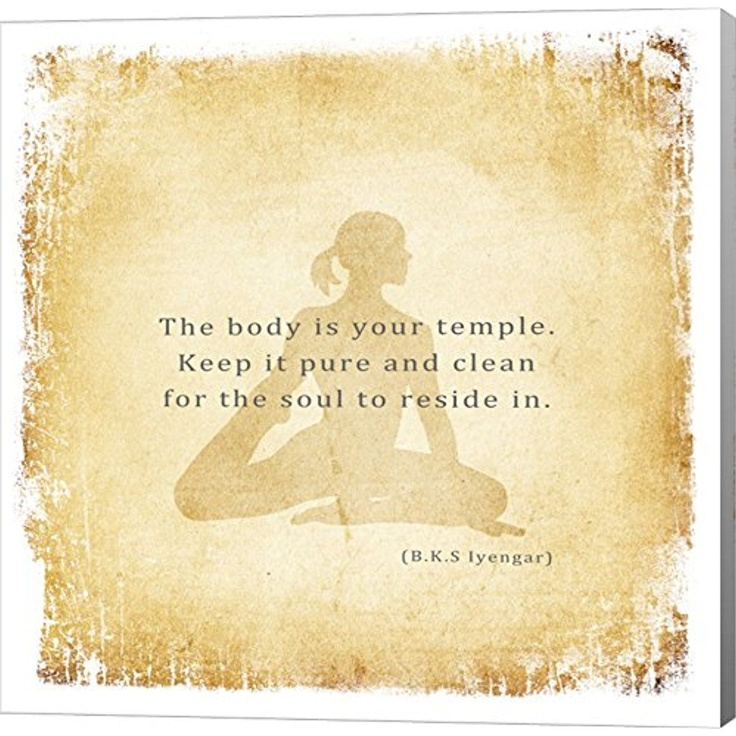 The Body is Your Temple by Veruca Salt Canvas Art Wall Picture ...