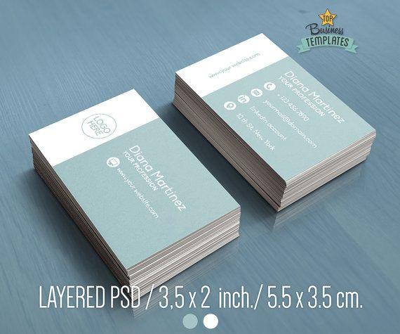 PSD Business Card Design Modern Business Card Template Printable - Diy business card template