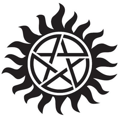 This is tattooed on Sam and Dean's chest to keep them from being possessed. I first saw this on the episode where Sam and Dean get arrested and Hendrickson finally lets them talk about demons and such.
