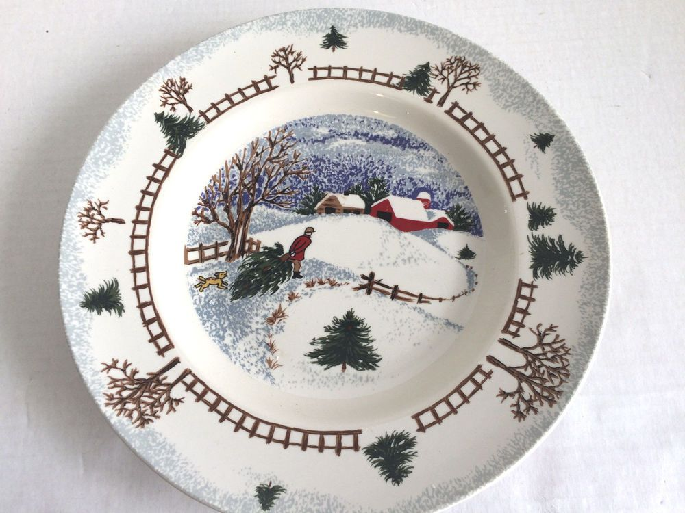 Folkcraft Stoneware Winter Side Dinner Plate Replacement or Additional Very Good #Folkcraft & Folkcraft Stoneware Winter Side Dinner Plate Replacement or ...
