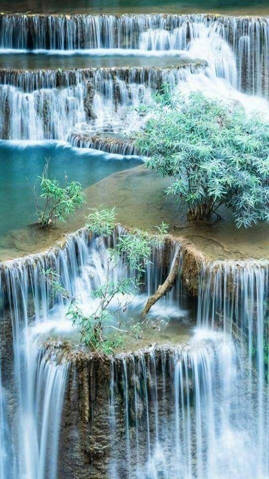 Multiple Waterfalls Beautiful Nature Waterfall Scenery