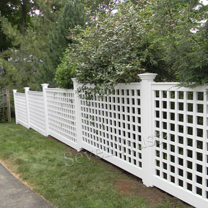 garden PVC lattice fence design decorative | amherst ct in ...
