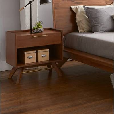 Best Moffitt Single Drawer Nightstand Contemporary Bedroom 400 x 300
