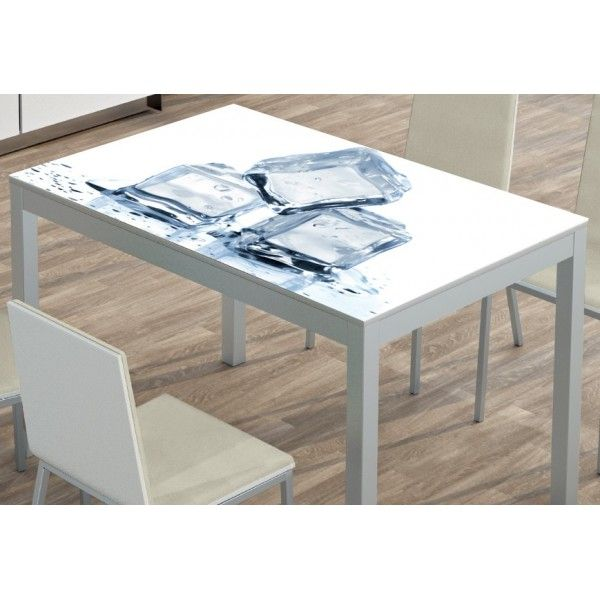 Mesa para cocina Leo fija Cristal
