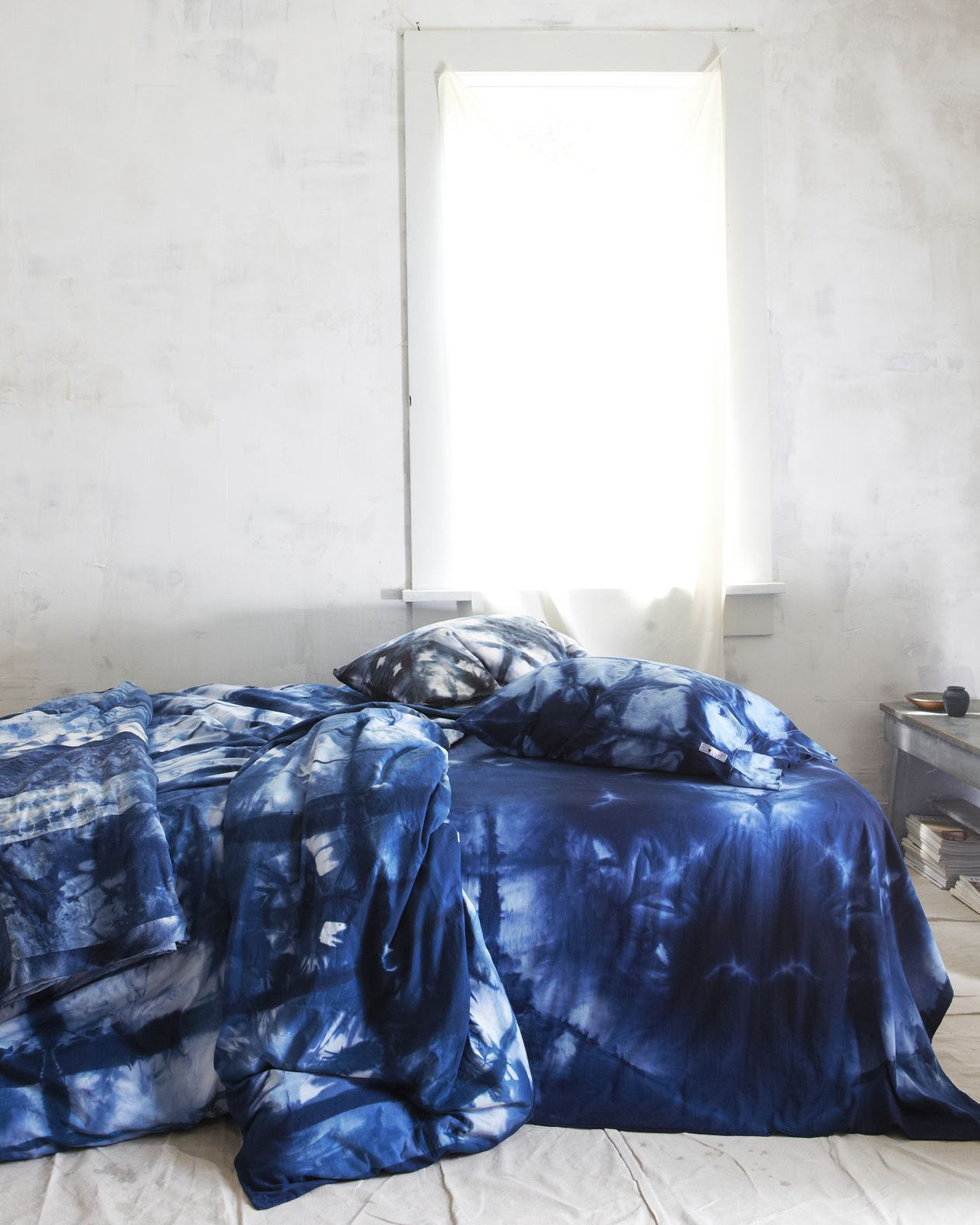 Ugh I Want My Bedspread To Be This Indigo Itajime Hand Dyed Duvet Cover Pillowcases