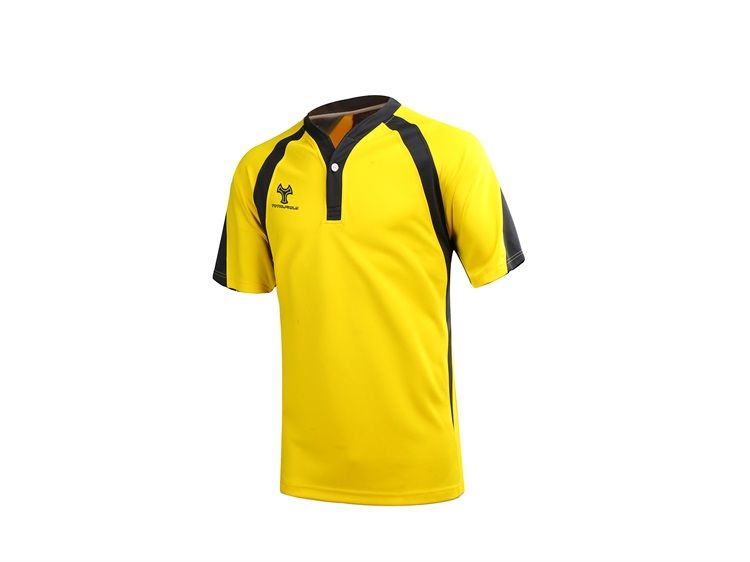 Custom Black And Yellow Rugby Jersey