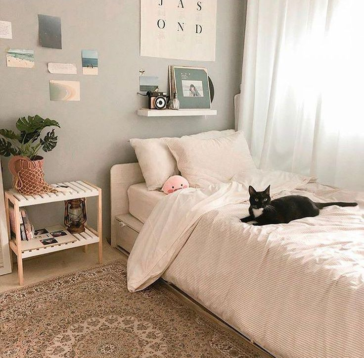 6 Creative Tips On How To Make A Small Bedroom Look Larger Dream Bedrooms Aesthetic Bedroom Small Bedroom Bedroom Decor