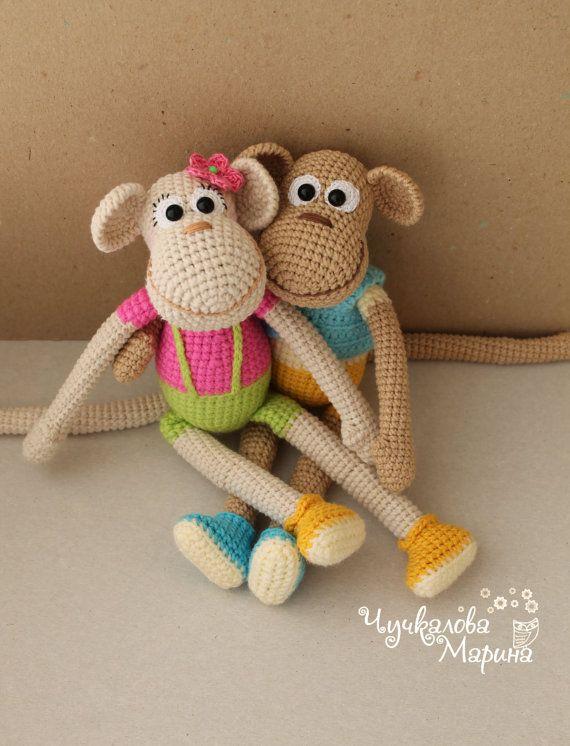 PATTERN Funny monkey PDF crochet toy pattern | Pinterest | Monos ...
