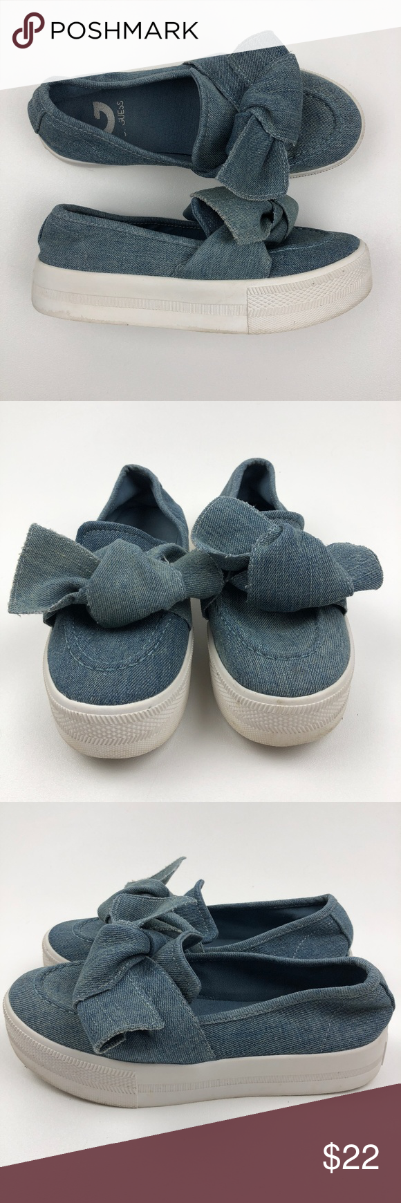43a05570ae349 G by Guess GG Chippy Sneakers G by GUESS Womens Chippy Denim Fabric ...
