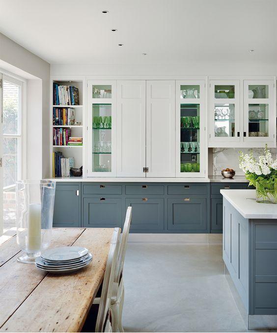 Cocinas A Color Hoy En Gris Azulado Diseno Muebles De Cocina Muebles De Cocina Diseno De Interiores De Cocina