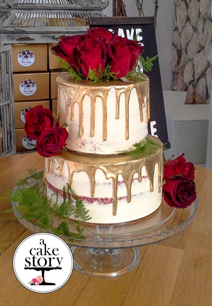 Rustic Red Velvet Wedding cake red, Red velvet wedding