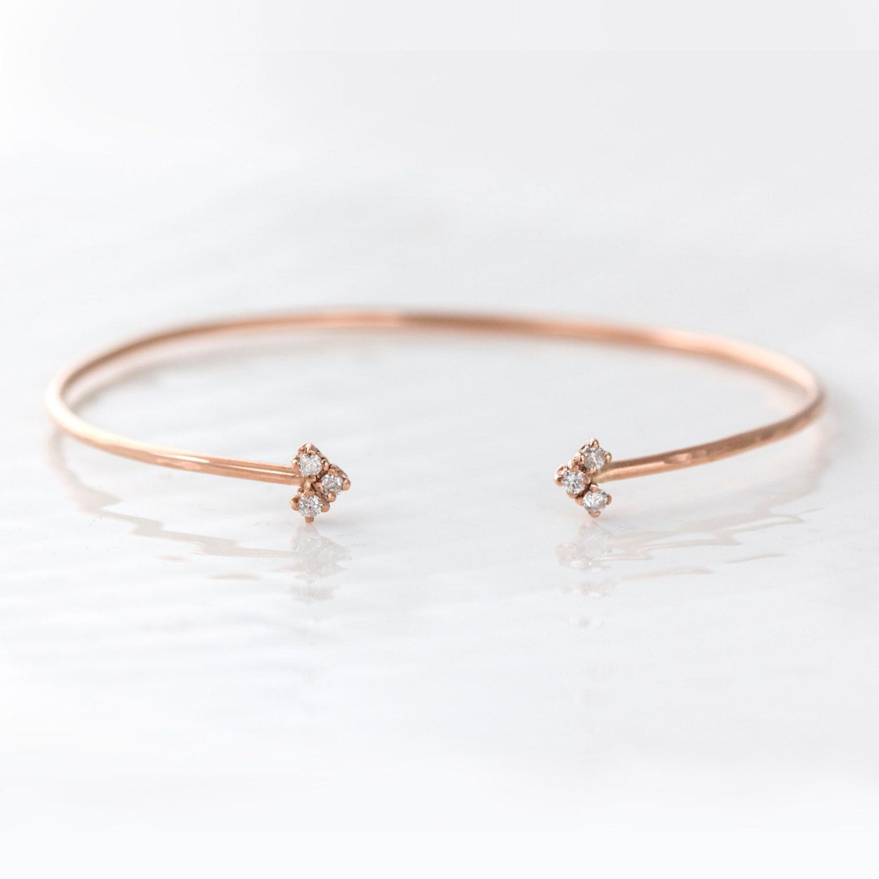 Simple feminine and delicate this cuff bracelet is handmade in k