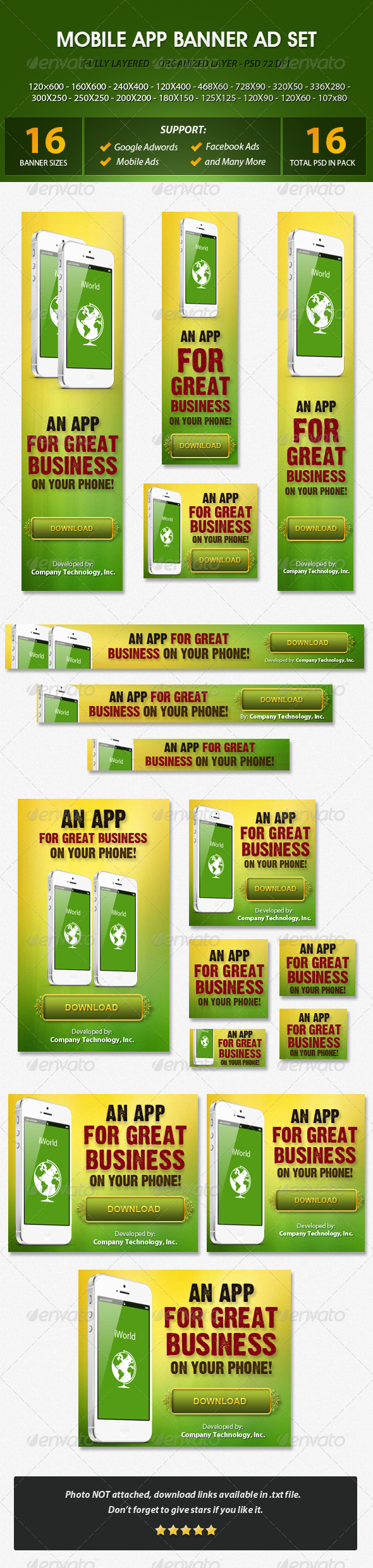 Mobile App Banner ad Set   Mobile app, Web banners and Banners