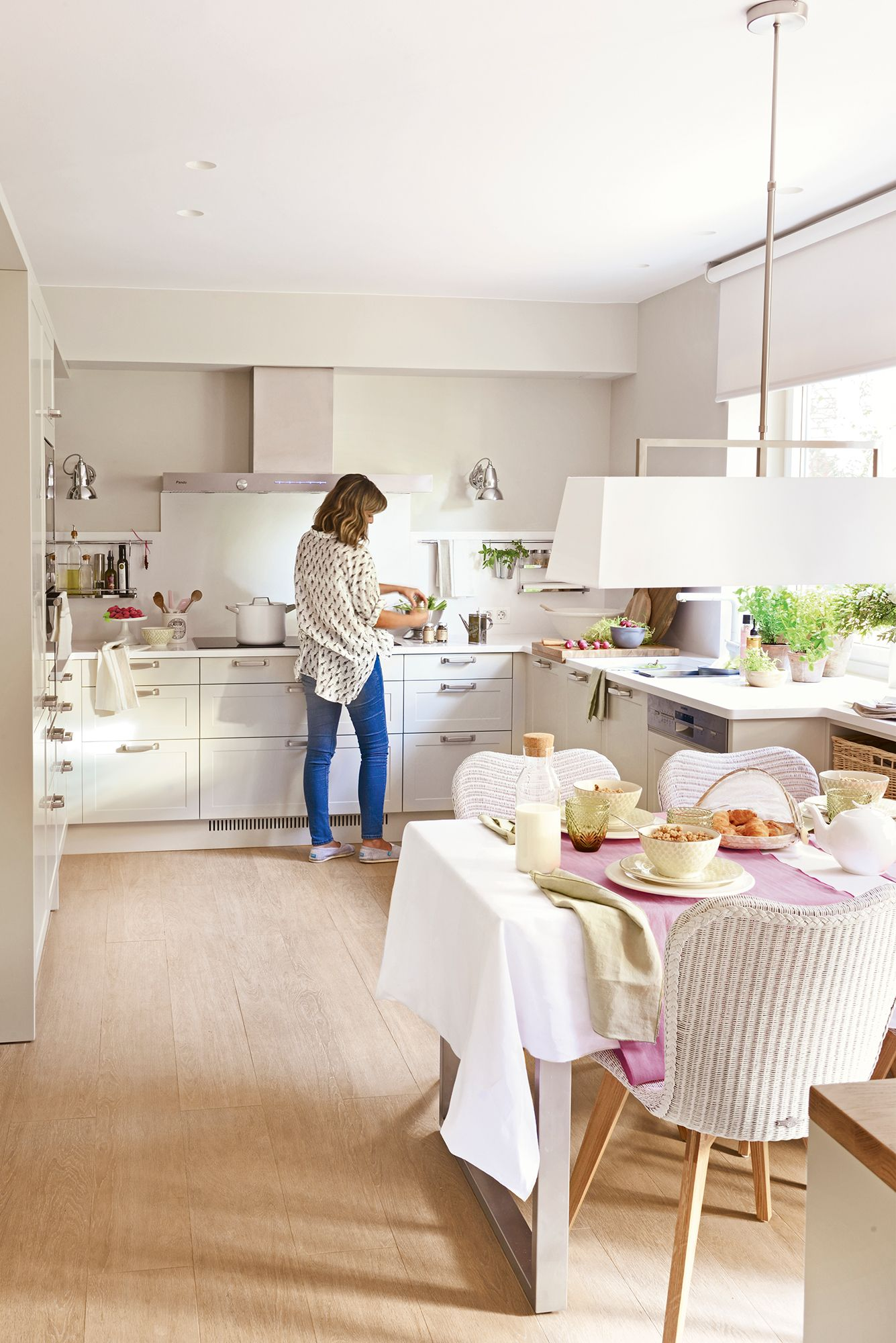 27 En U Y Con Office Cocinas Blancas Cocinas Y Cocina Con
