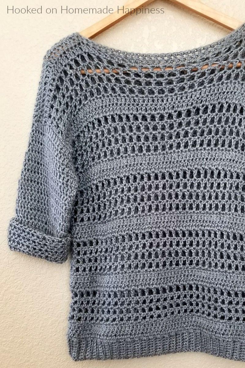 Simple Crochet Sweater Pattern | Crochet sweater patterns, Simple ...
