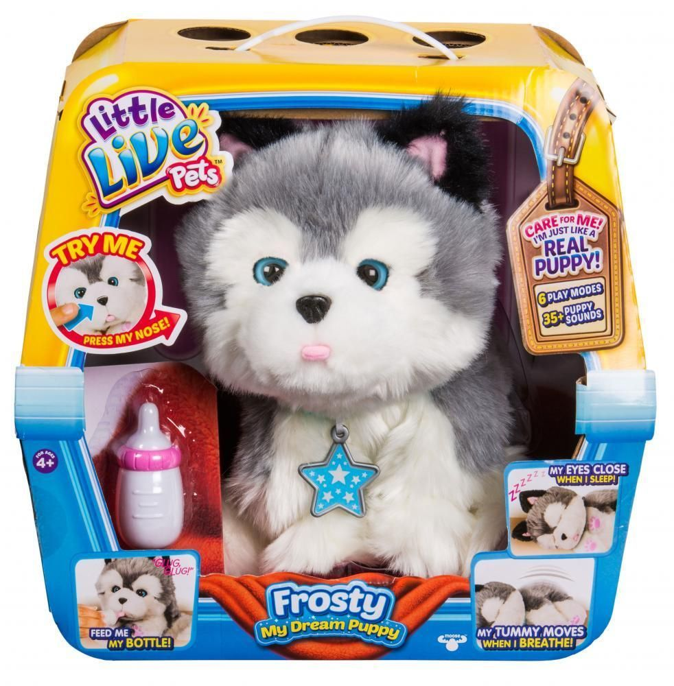 Little Live Pets My Dream Puppy Husky Frosty Little Live Pets Kids Toys Animated Plush