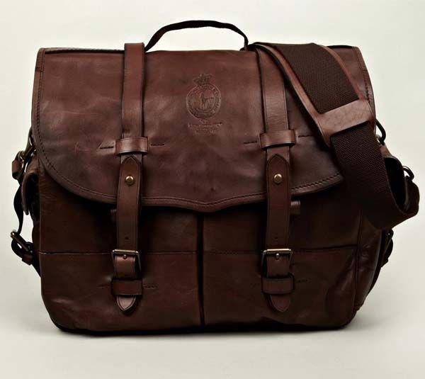 Polo Ralph Lauren Vintage Leather Messenger Mens Accessories Fashion Messenger Bag Men Messenger Bag