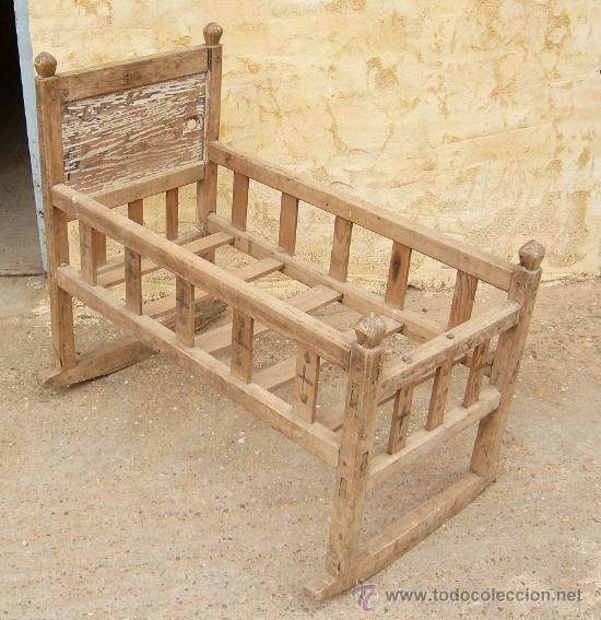 Cuna antigua de madera mueble ,,, mue365   Pinterest   Cunas ...