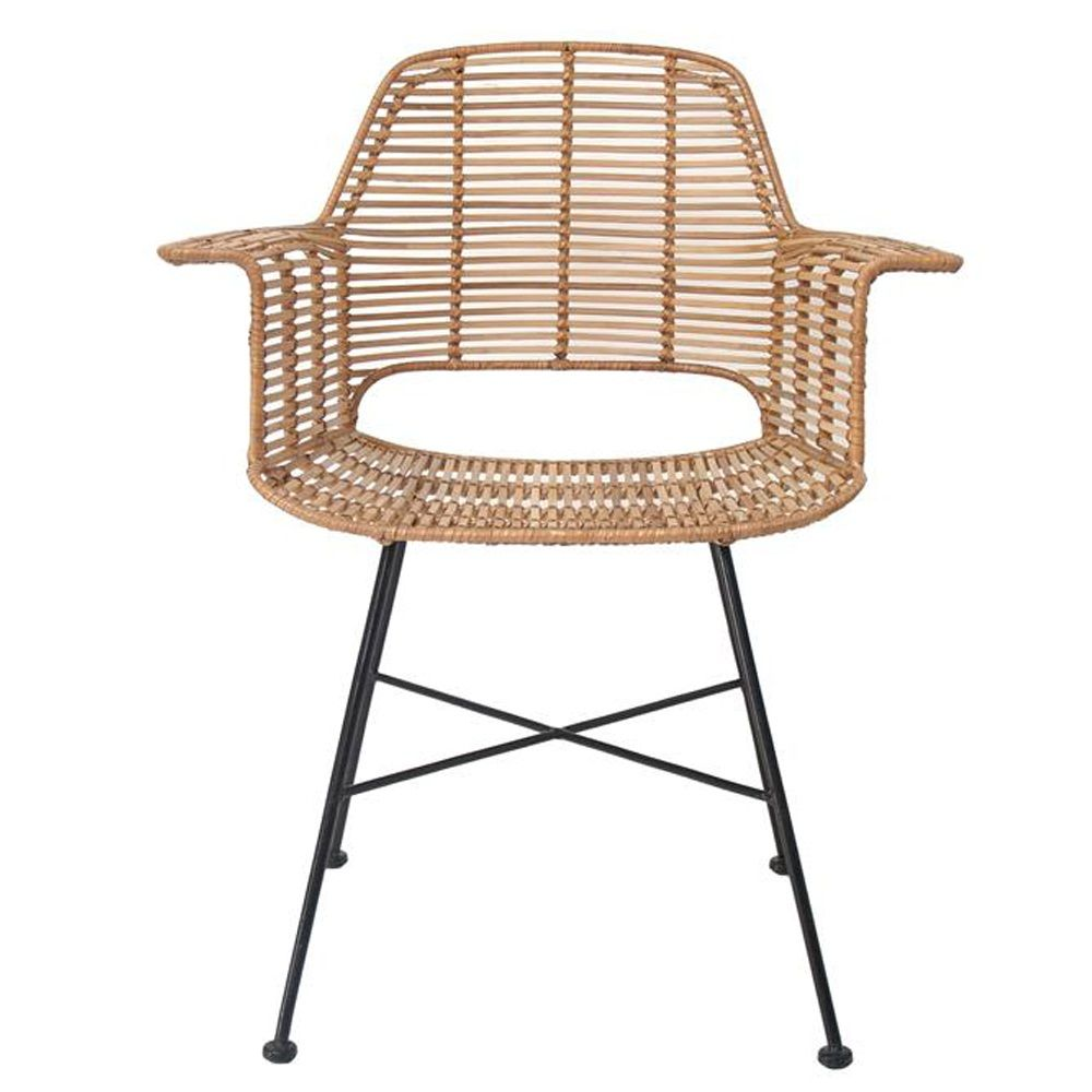 Scandi Style Rattan Tub Dining Chair In Natural Chair Dining
