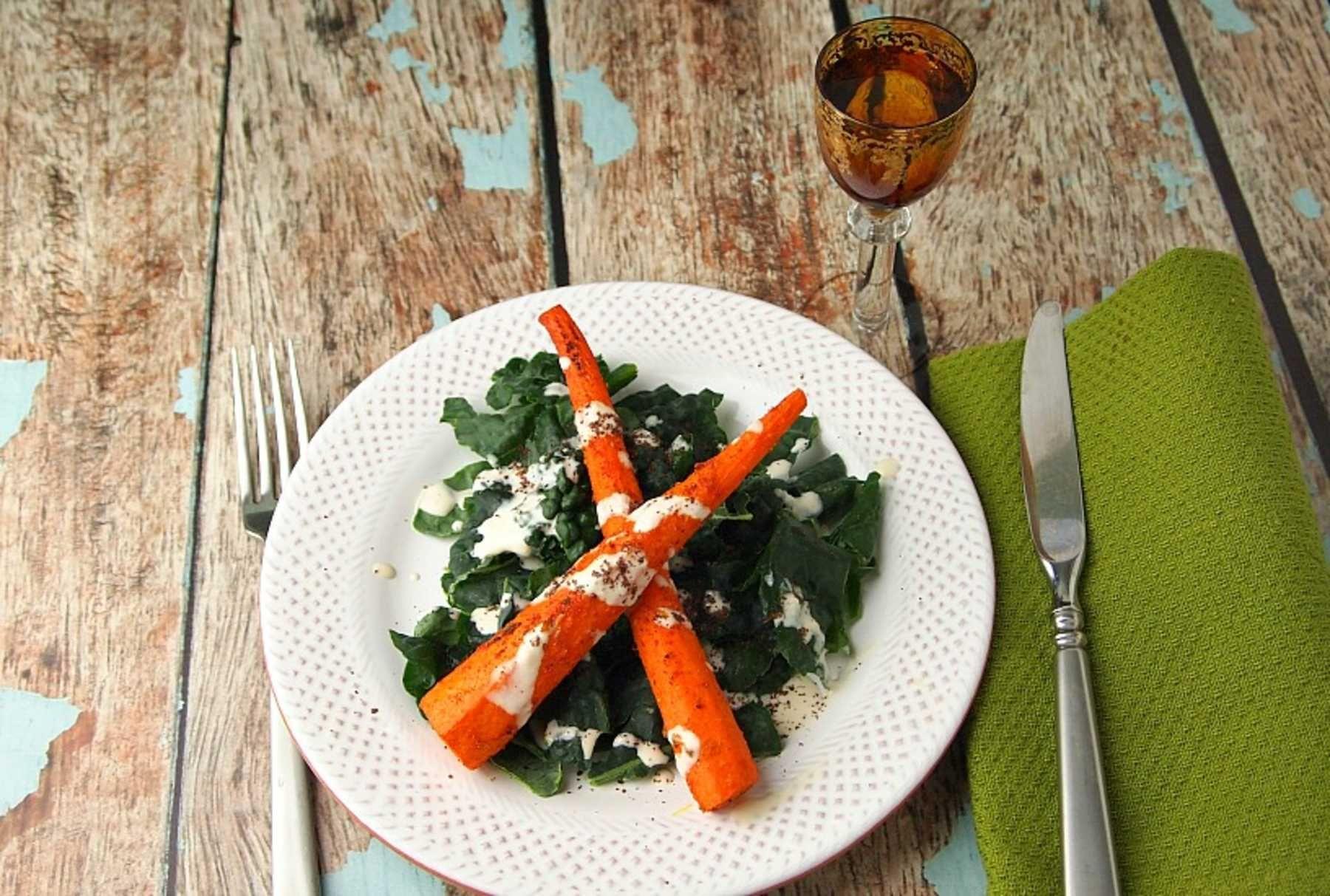 Shawarma Style Carrots.