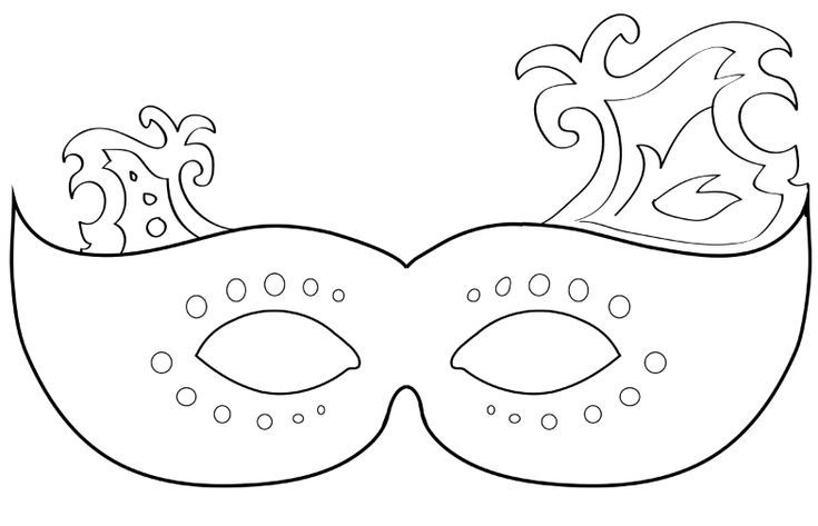 Create Your Own Mardi Gras Mask with These 19 Free Templates - paper face mask template