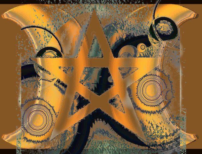 Pentagramm, Drudenfuß, | Schwarze magie, Schutzzauber
