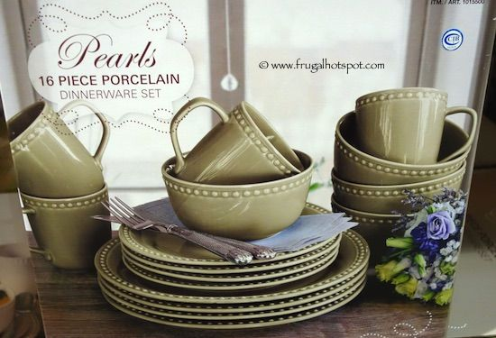 Over and Back Pearls 16-Piece Porcelain Dinnerware Set. #Costco ...