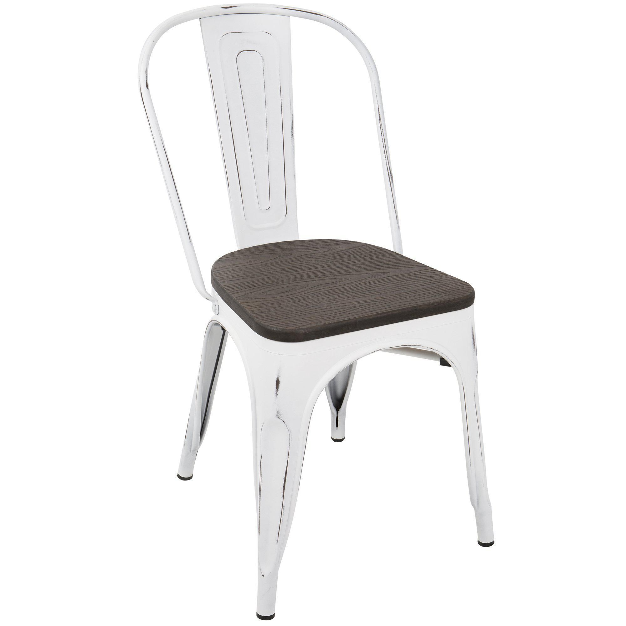 Oregon IndustrialFarmhouse Stackable Dining Chair in