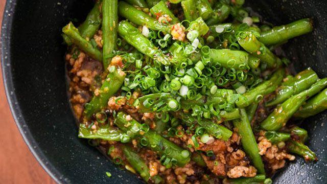 Green beans with garlic black bean sauce recipe pbs food green green beans with garlic black bean sauce recipe forumfinder Gallery