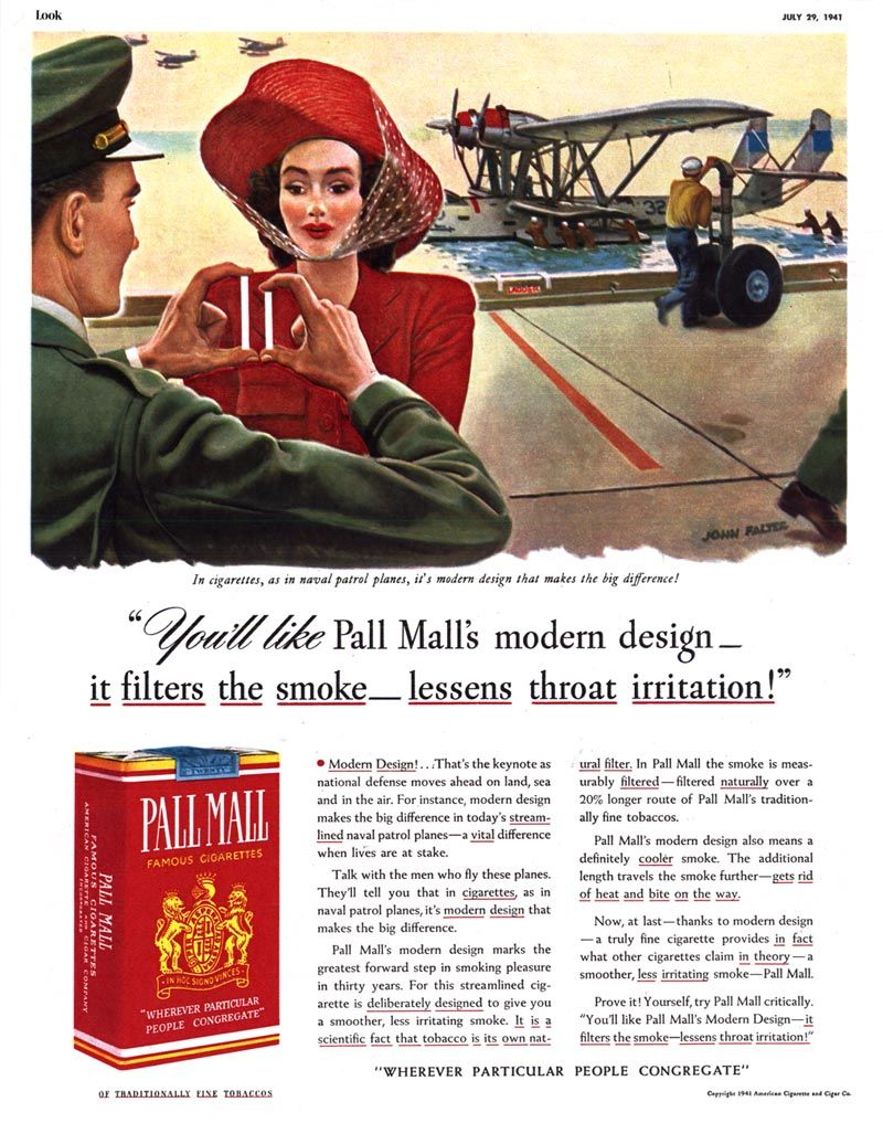 pall mall cigarettes vintage ads 1941 quotyou�ll like pall