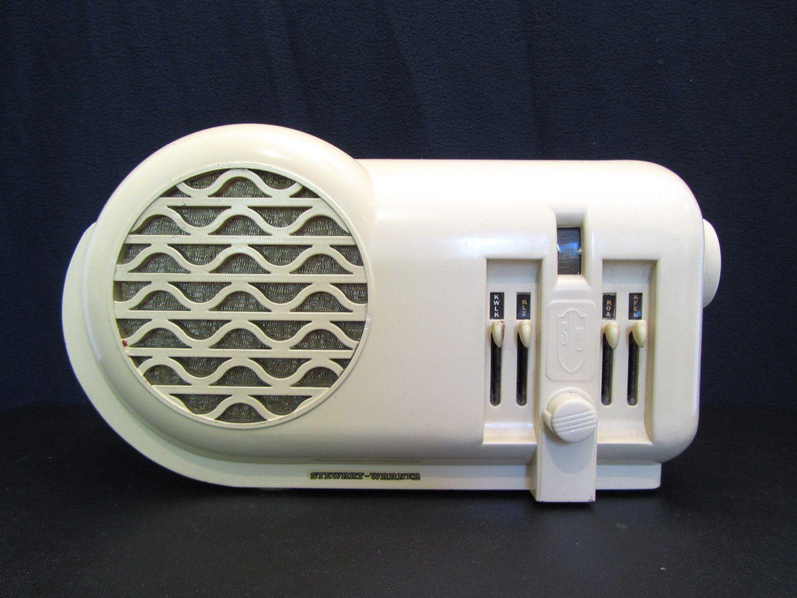 1939 Stewart Warner Radio Mid Century Art Art Deco Deco