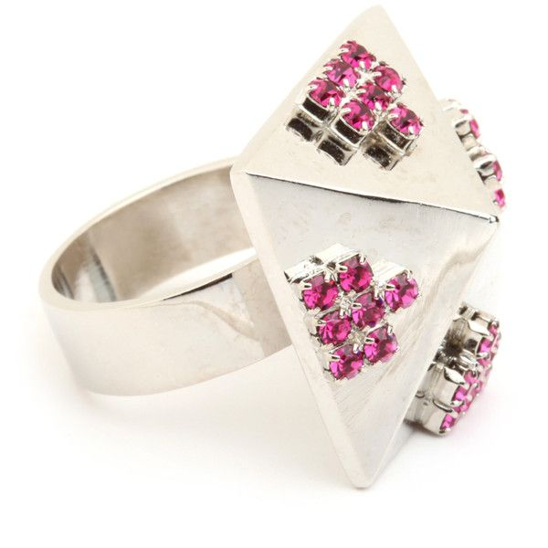 BaubleBar Sophie Blake Pink Pyramid Ring ($74) ❤ liked on Polyvore