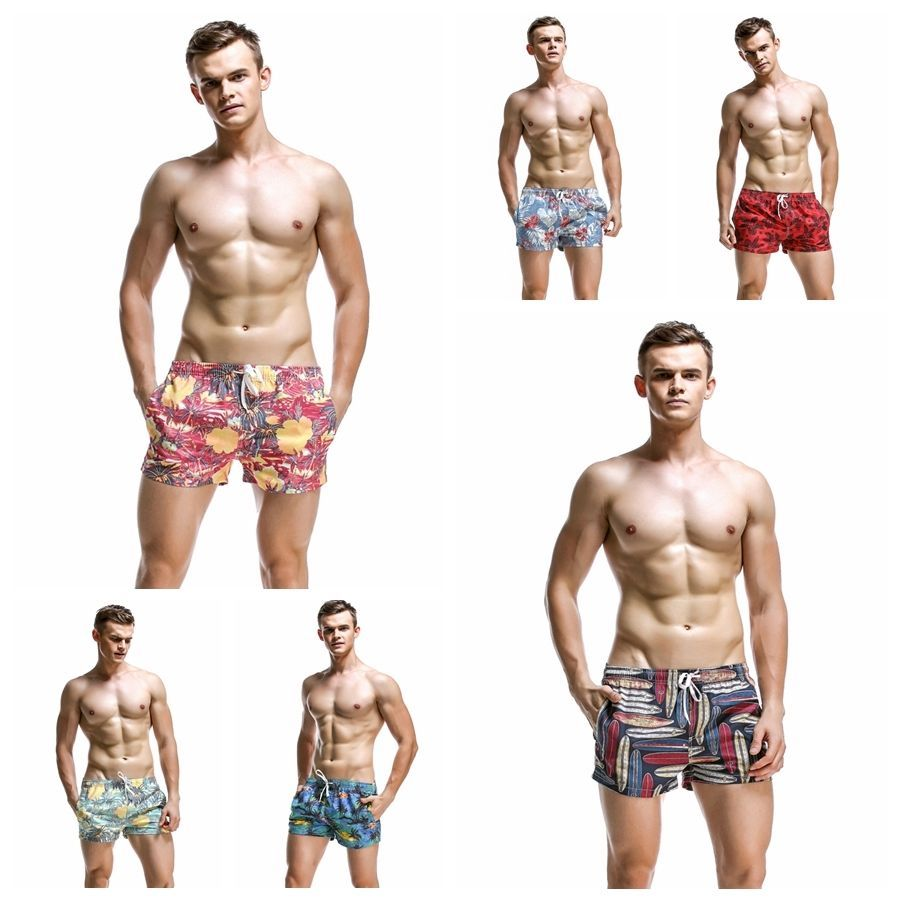 SEOBEAN Men/'s Swimwear Casual Summer Beach Pants Small Boxer Shorts Swimsuit New