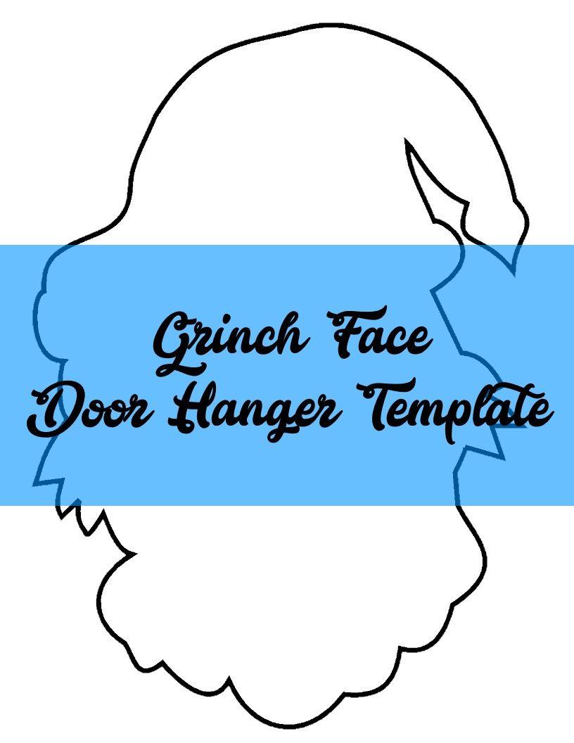 Grinch Face Door Hanger Template Door Hanger Template Painted