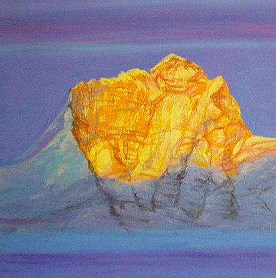 Landscapes Paintings In Oil On Canvas And Mixed Media On Canvas By Artist Kishor Ranadiwe Call Of The Himalayas Xv Landscape Paintings New Art Artist