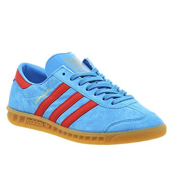 adidas Hamburg Herren Sneakers Blau: : Schuhe