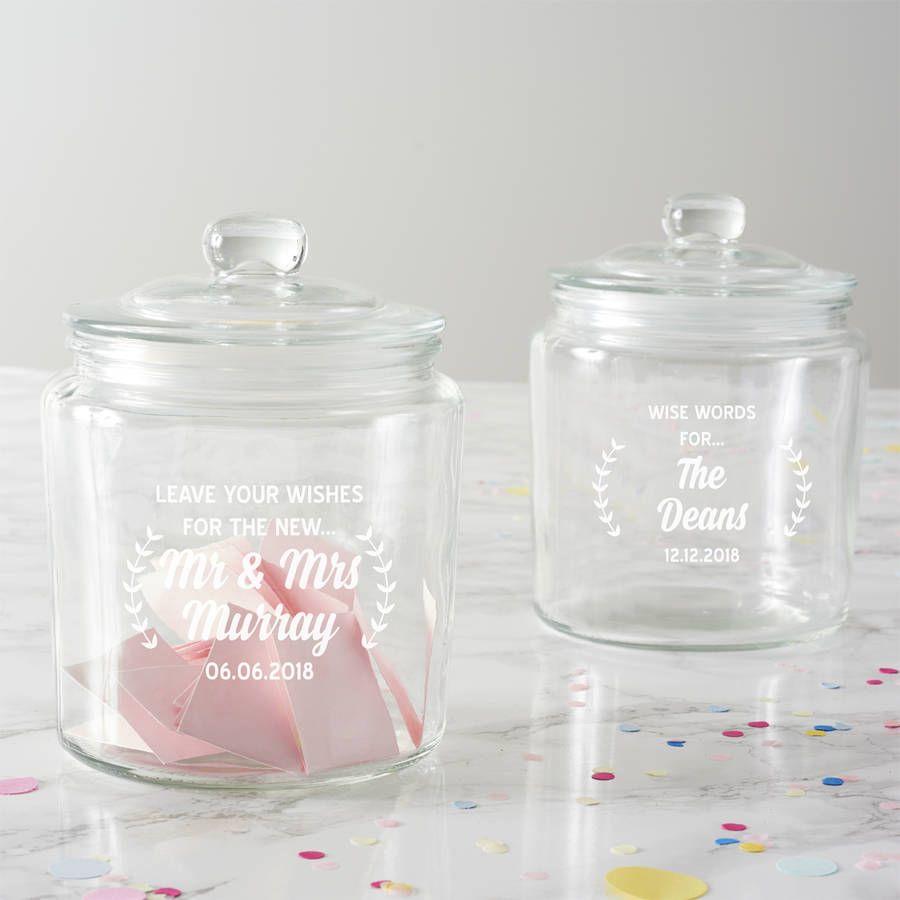 Personalised Wishes Wedding Jar | Wedding jars, Guestbook and Jar