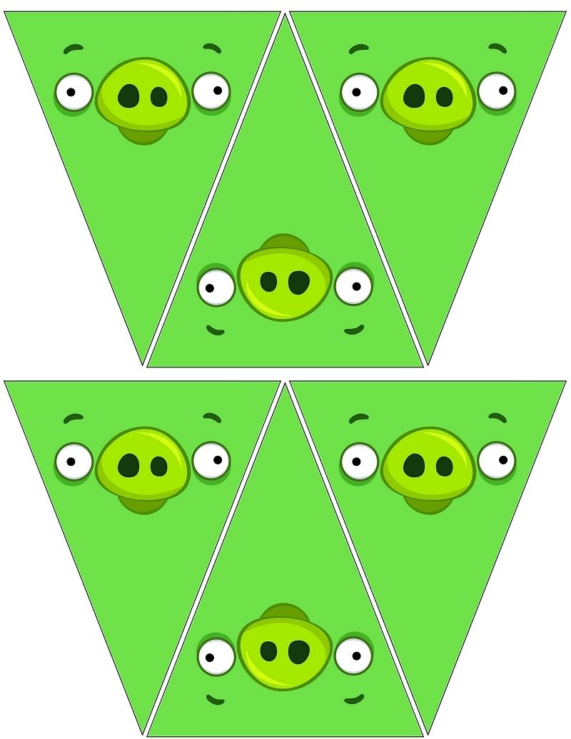 Birthday Party Ideas  C B Angry Bird Pig Banners Free To Use And Free To Share
