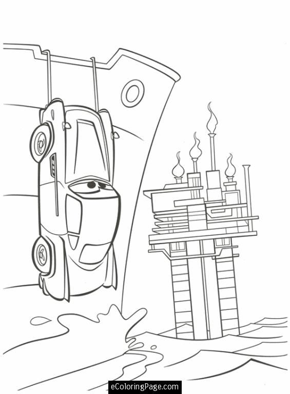 Cars 2 Printable Coloring Pages Cars 2 Finn McMissile Hiding